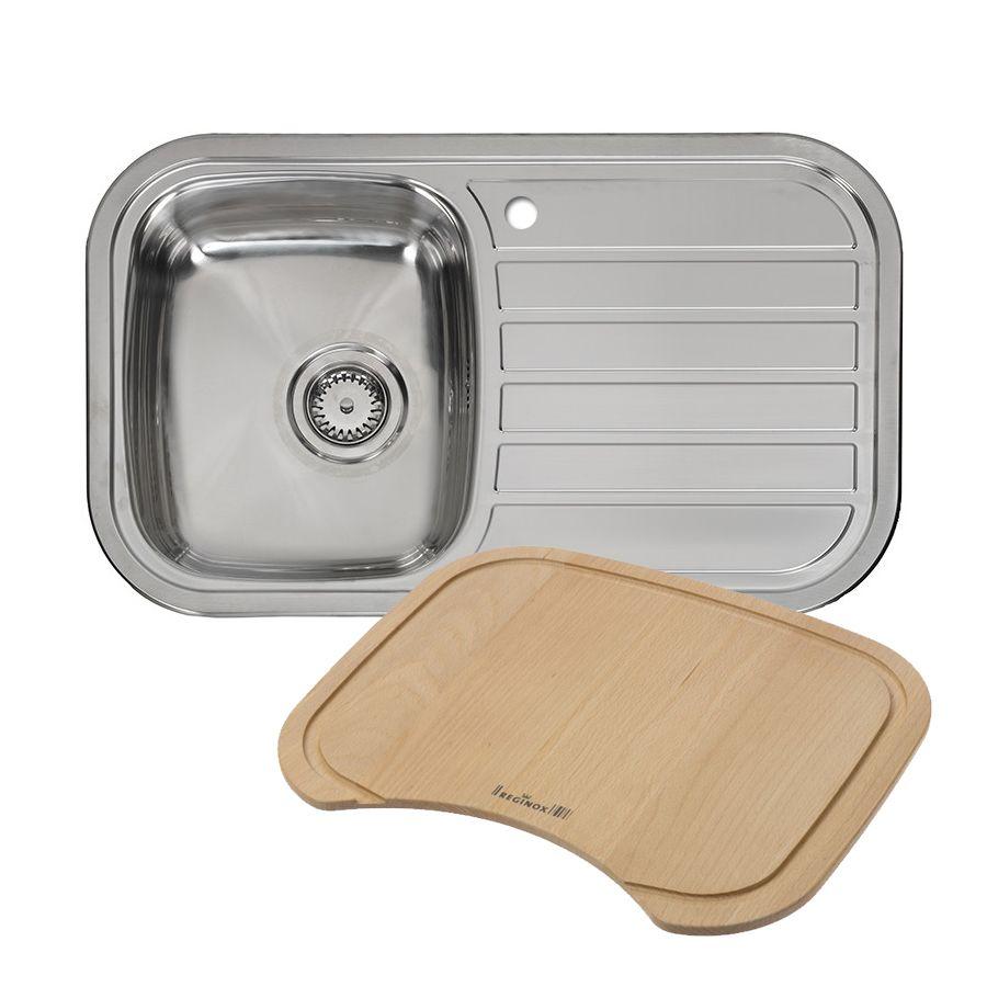 ... REGENT 10 LUX Single Bowl Kitchen Sink + FREE CHOPPING BOARD
