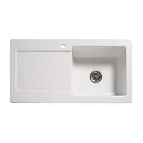 RL504CW Single Bowl Ceramic Kitchen Sink