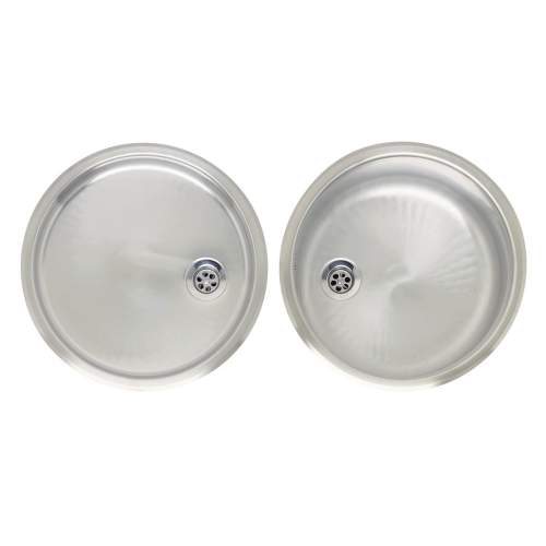 Round Bowl Kitchen Sink and Drainer Set - RL216S
