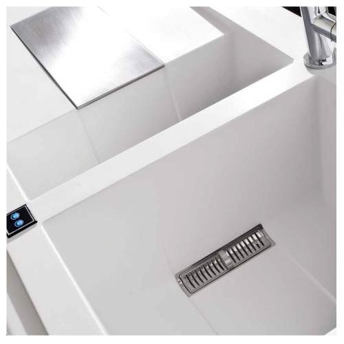 Sirex 475 Electro 1.5 Bowl Inset Granite Kitchen Sink - White