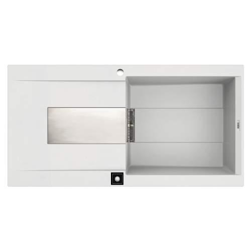Sirex 480 Electro 1.0 Bowl Inset Granite Kitchen Sink - White