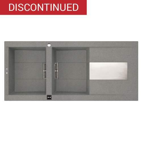 Sirex 500 Electro 2.0 Bowl Inset Granite Kitchen Sink - Grey