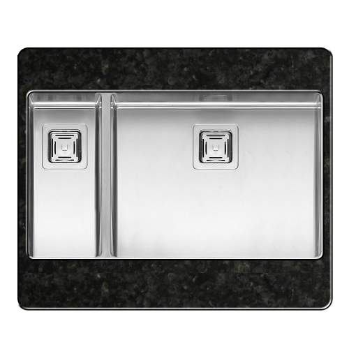 TEXAS 50x40+18x40 1.5 Bowl Kitchen Sink
