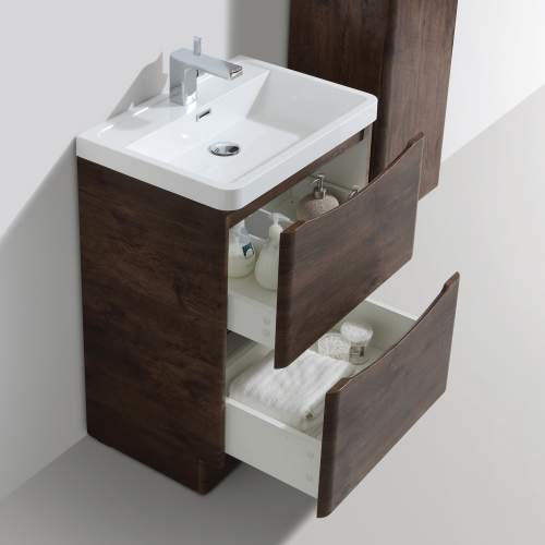 Bali Chestnut 600mm Free Standing Unit and Basin