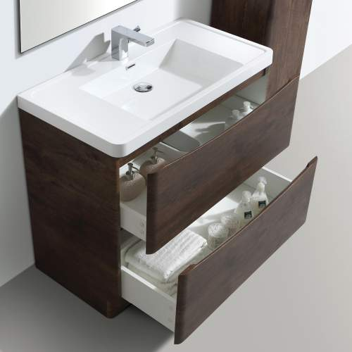 Bali Chestnut 900mm Free Standing Unit and Basin