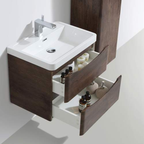 Bali Chestnut 600mm Wall Mounted Unit and Basin