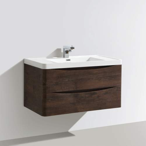 Bali Chestnut 900mm Wall Mounted Unit and Basin