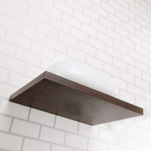 Floating Dark Wood Shelf