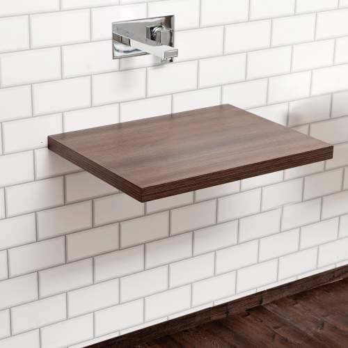 Floating Dark Wood Shelf
