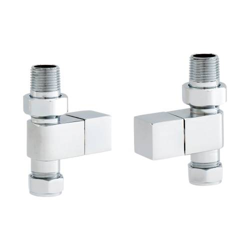 Straight Square Head Radiator Valve Set