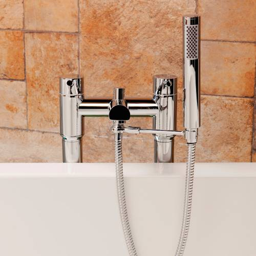 Round Bath Shower Mixer Handset Arm