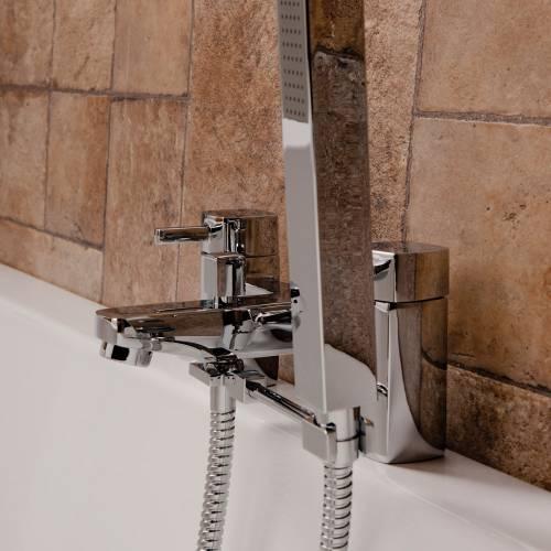 Square Bath Shower Mixer Handset Arm