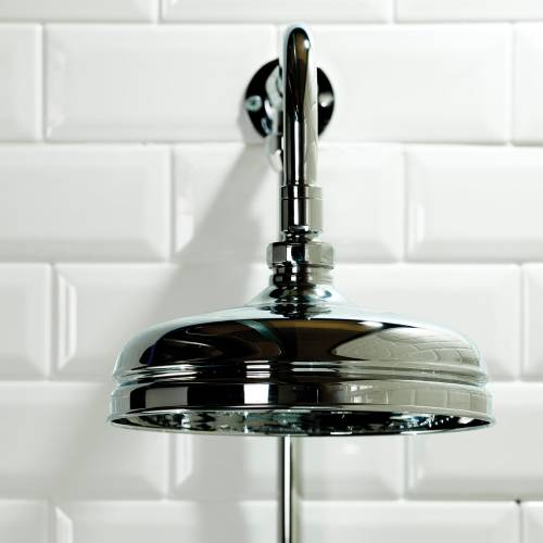 Traditional Shower Rigid Riser with Shower Head, Hand Shower and Diverter