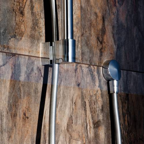 Contemporary Round Shower Slide Rail Kit