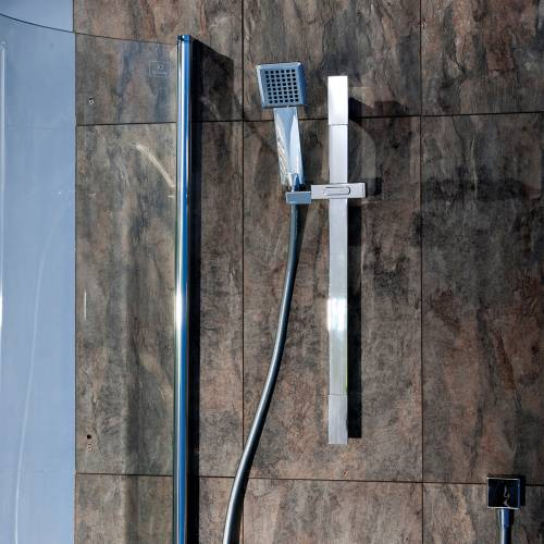 Contemporary Square Shower Slide Rail Kit