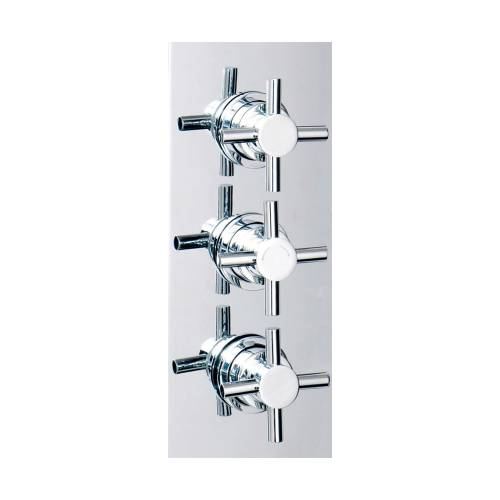 Triple Crosshead Concealed Shower Valve