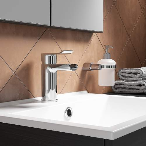 LOU Monobloc Basin Mixer with Push Waste