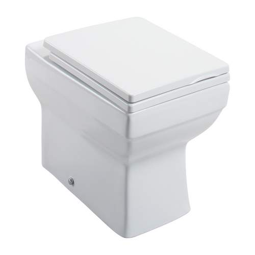 Dice Square Back To Wall Toilet with Quick Release Seat