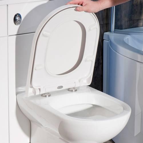 D-Shape Quick Release Heavy Duty Toilet Seat