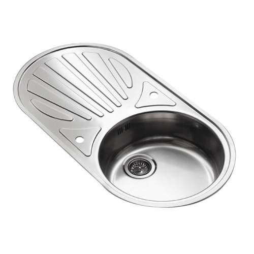 GALICIA Single Bowl Kitchen Sink and Round Drainer - RP105S