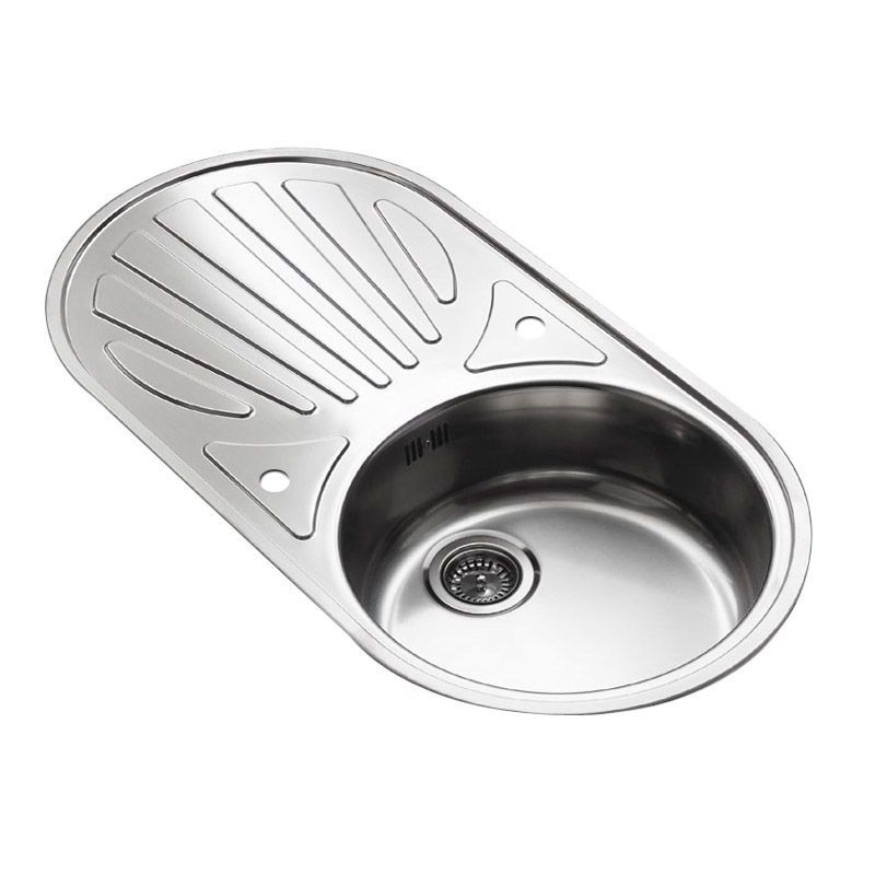 galicia single bowl kitchen sink and round drainer rp105s. Interior Design Ideas. Home Design Ideas