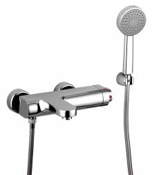 RAPTURE Wall Mounted Thermostatic Bath Shower Mixer Tap with Shower Handset