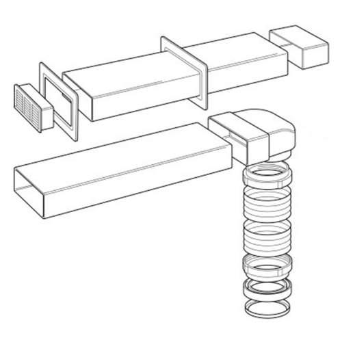 227W Flat Venting Kit (125mm)