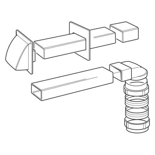 212W Flat Venting Kit (100mm)