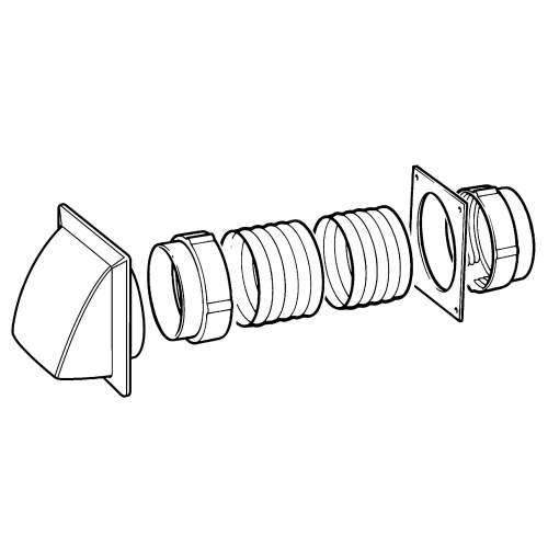 202-5W Round Venting Kit (125mm)