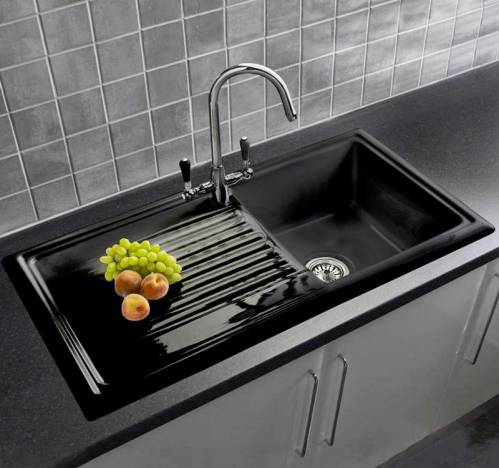 rl404 black ceramic sink with free brooklyn tap sinks