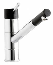 Ariel Kitchen Monobloc Tap in Chrome & Volcano Black