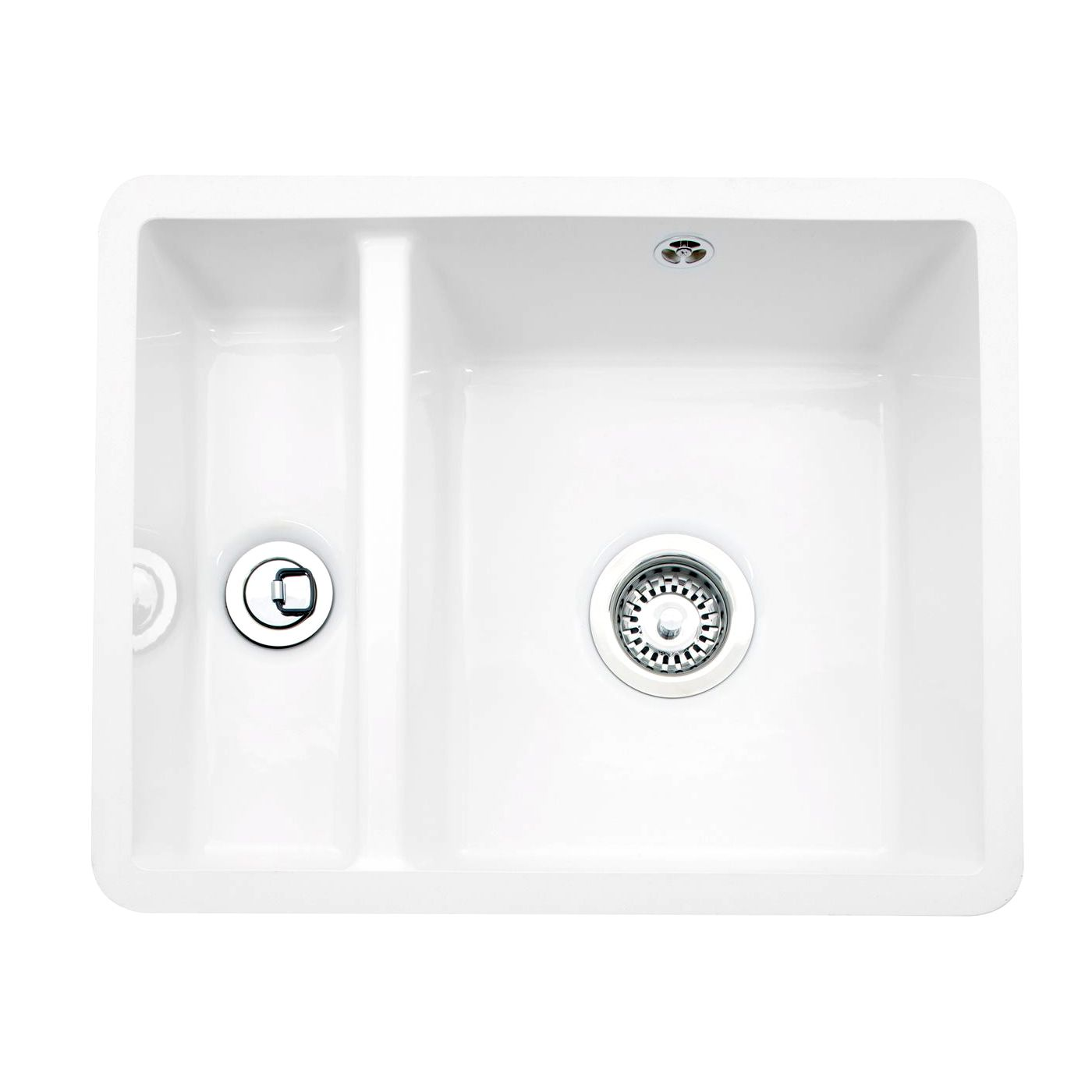 ceramic kitchen sinks 1 5 bowl caple friska 1 5 bowl undermount ceramic sink sinks taps 8091