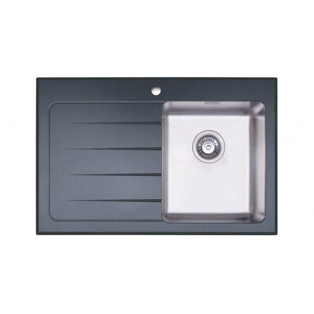 Bluci KubeVetro Black Glass Compact Sink - Sinks-Taps.com