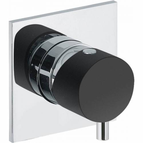 Cyclo Wall Mounted Bath Mixer Tap Control - Black/Chrome