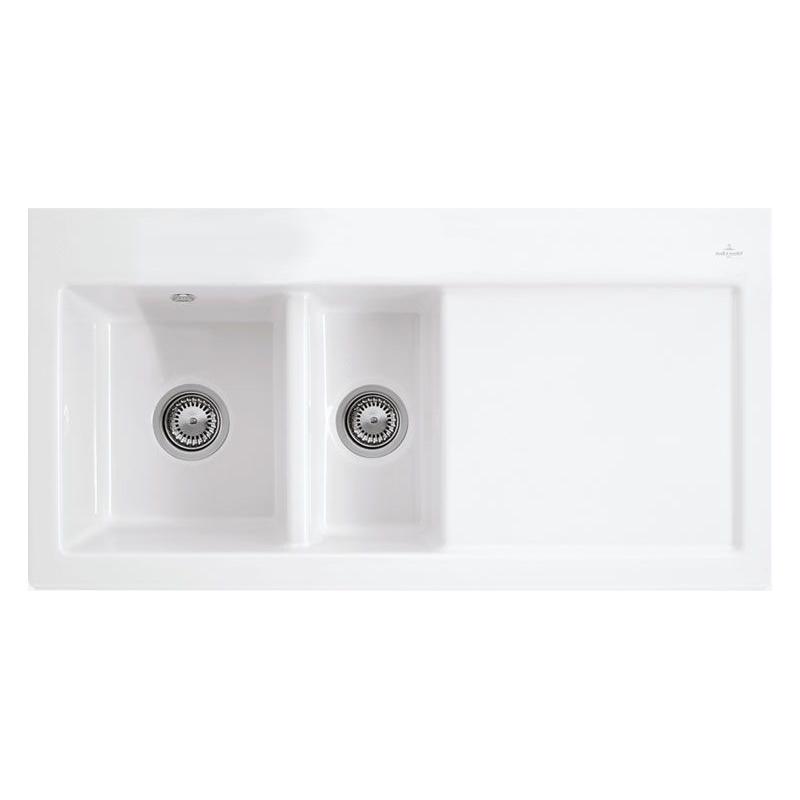 Villeroy Amp Boch Subway 60 Sink Ceramic Line Sinks Taps Com