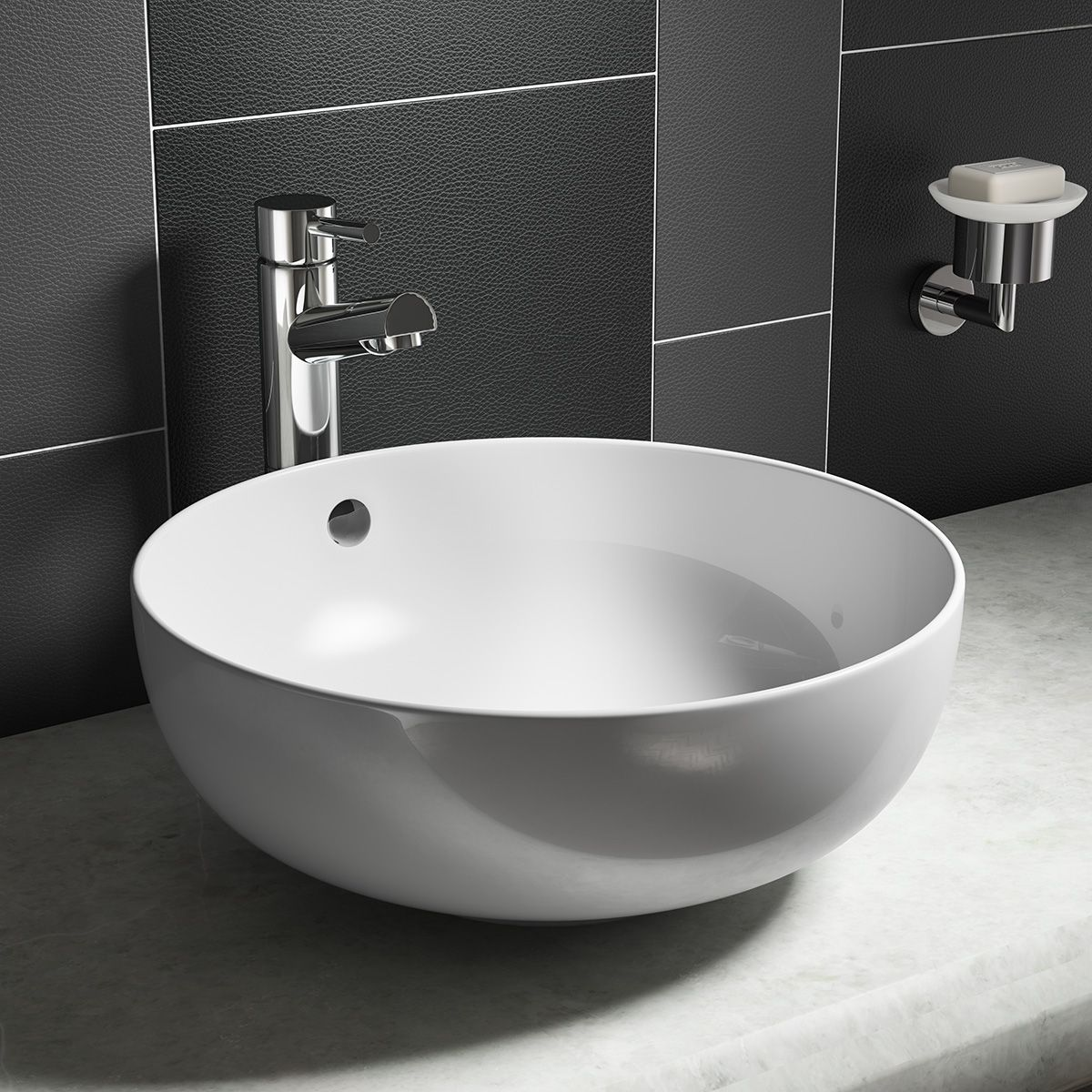 Aquabro Round Counter Top Vessel Basin Sinks Taps Com