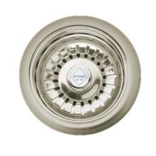 "3.5"" Polished Nickel Basket Strainer Waste"