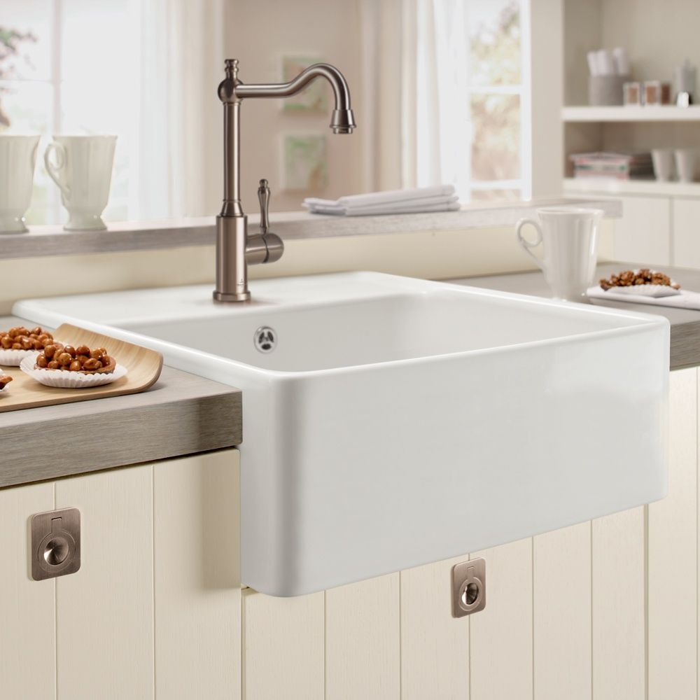 kitchen with belfast sink villeroy amp boch butler 60 belfast ceramic sink sinks 6493