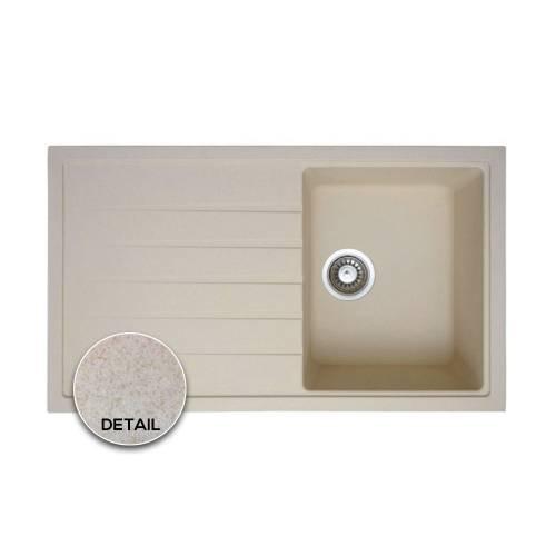 PIAZZA 1.0 Compact Granite Kitchen Sink in OATMEAL