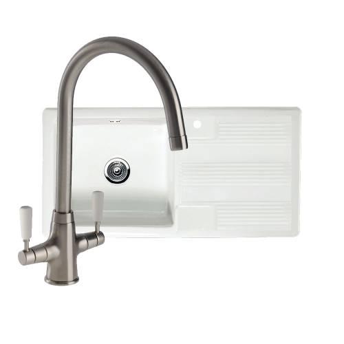 VECCHIO G4 1.0 Bowl Kitchen Sink with FREE NENBRO Tap