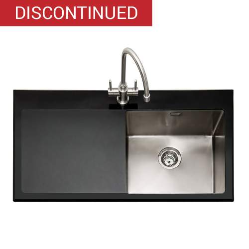 VITREA 100 Glass Inset Kitchen Sink