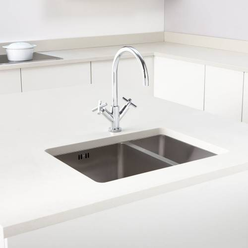 Mode 150 Undermount 1.5 Left Handed Small Bowl Kitchen Sink