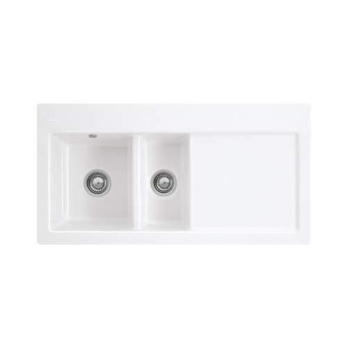 SUBWAY 60 1.5 Bowl Ceramic Kitchen Sink - Premium Line