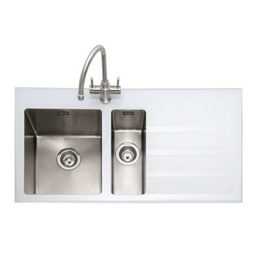 VITREA 150 Glass Inset Kitchen Sink