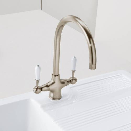 Shaftsbury Twin Lever Kitchen Tap