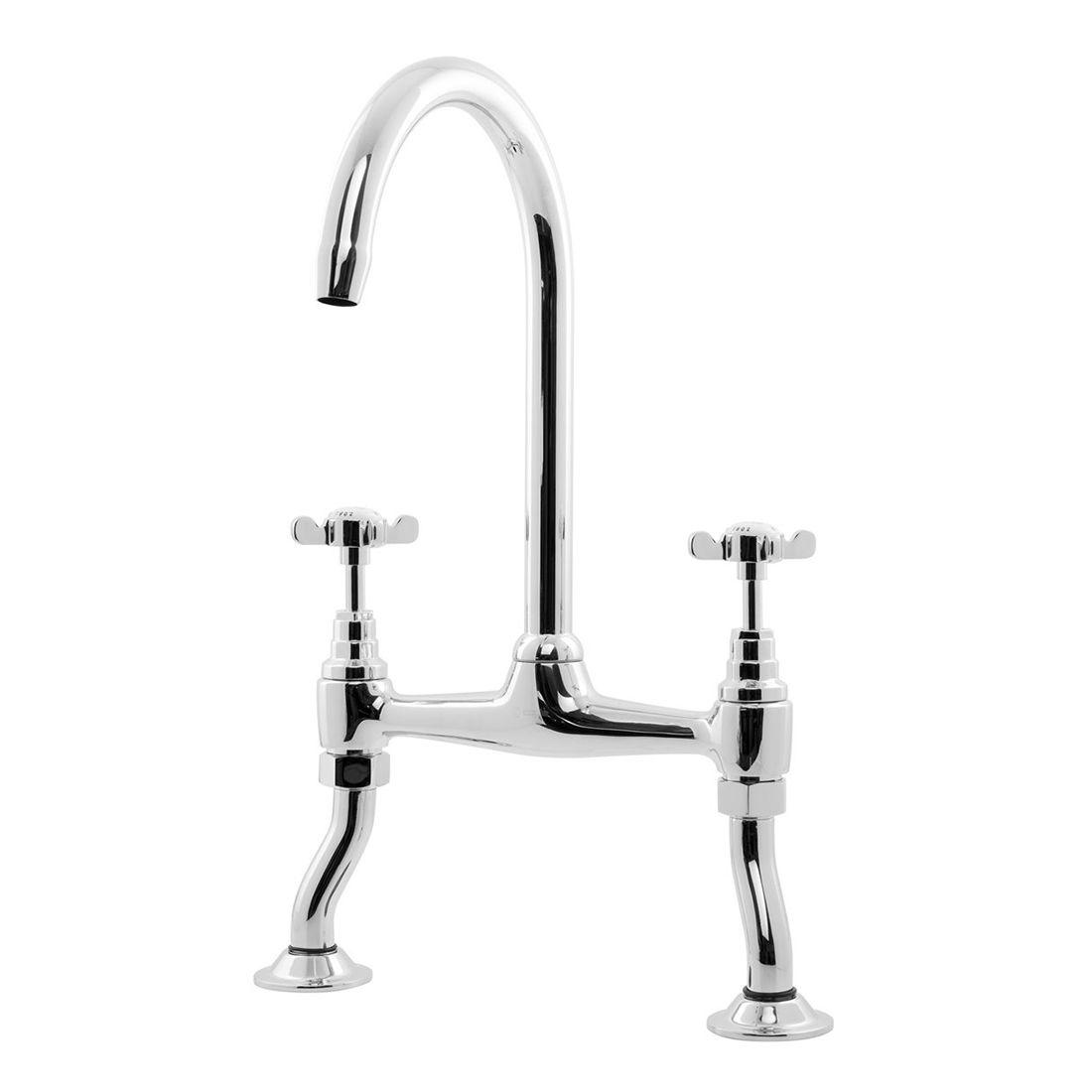 caple buckingham deck mounted kitchen tap sinks taps com deck-mounted sink mixer kitchen tap chrome Kitchen Faucets