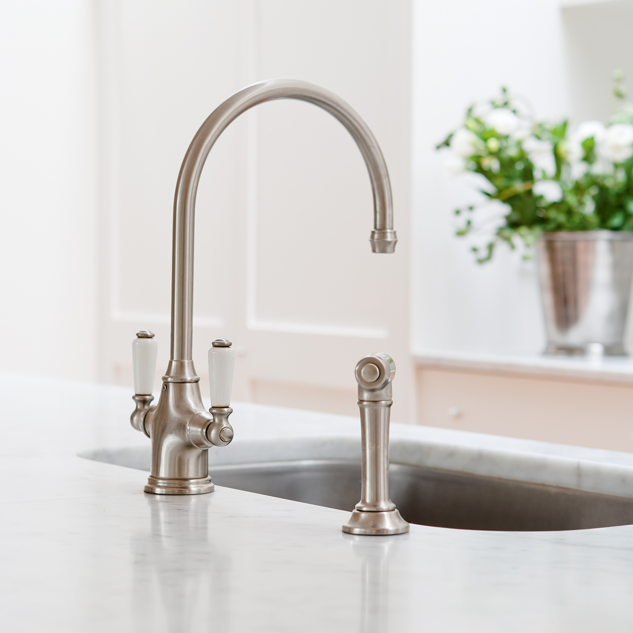 Perrin and Rowe 4360 Phoenician Tap with Rinse - Sinks-Taps.com