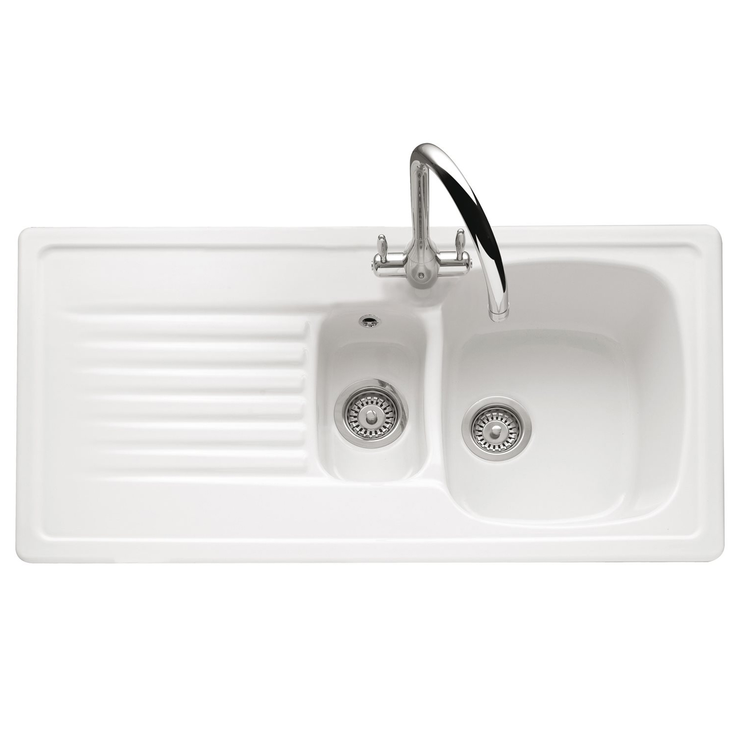 inset kitchen sink caple ashford 150 inset ceramic sink sinks taps 1870