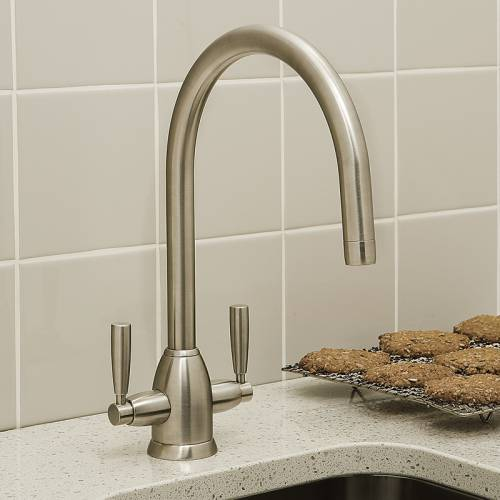 4861 Twin Lever Kitchen Tap