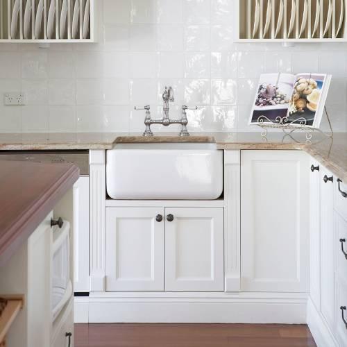 4751 PROVENCE Bridge Mixer Kitchen Tap with Lever Handles